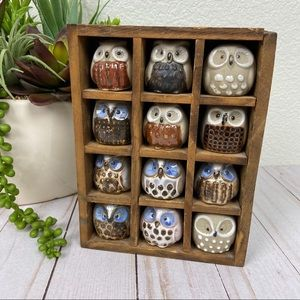 Other - Vintage Owl Cubby Shadow Box Display